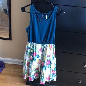 Floral colorful spring xhilaration dress